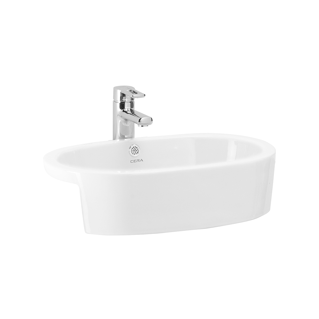 CERA 1096 Semi Recessed Wash Basin