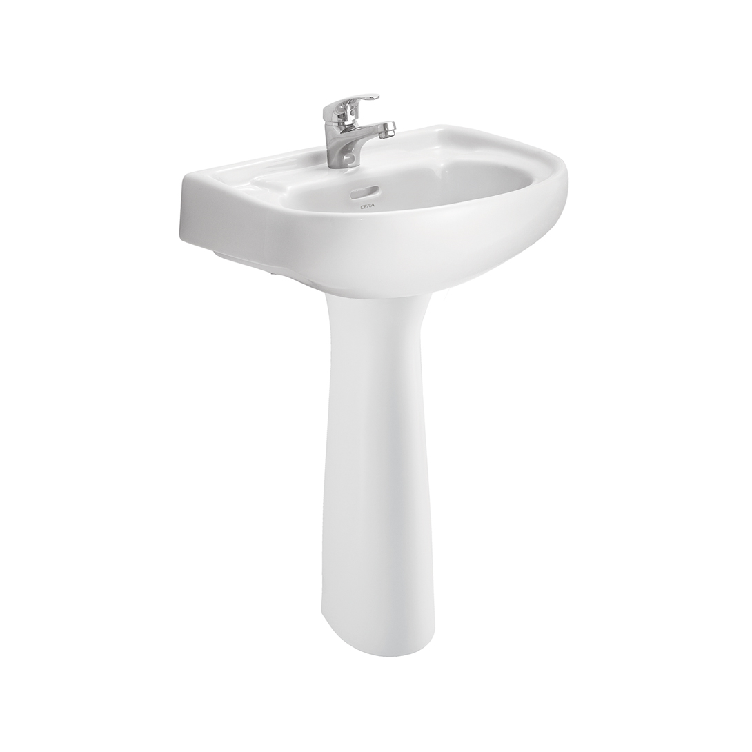 CERA Wall Hung Wash Basins With Full Pedestal