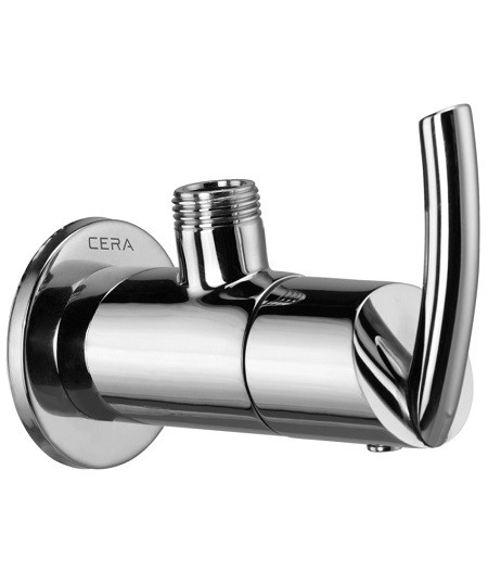 CERA CS 908 Angle cock with wall flange