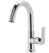 CERA CS 322R Pillar cock with swan neck spout