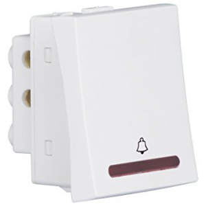 Havells Crabtree Athena - 10A Bell Push Switch with Indicator