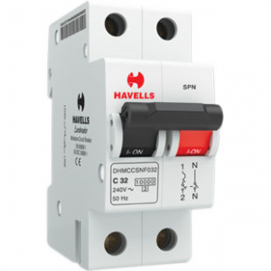 Havells Crabtree Athena - 10 A SP Mini MCB 'C' Series