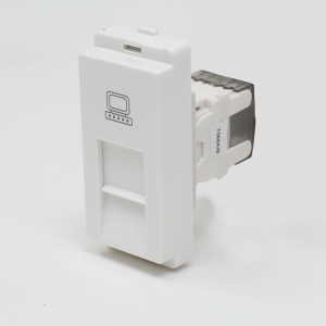 Schneider Livia RJ 45 cat 5e Data outlet shuttered