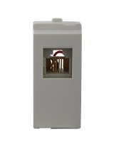 Schneider Opale - RJ 11 Tel outlet shuttered (Coke Grey)