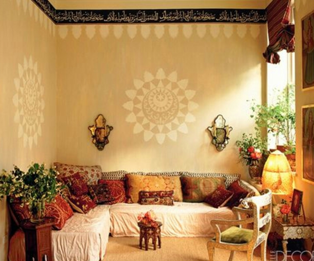 How to give your modern household the traditional indian for Indian ethnic living room designs