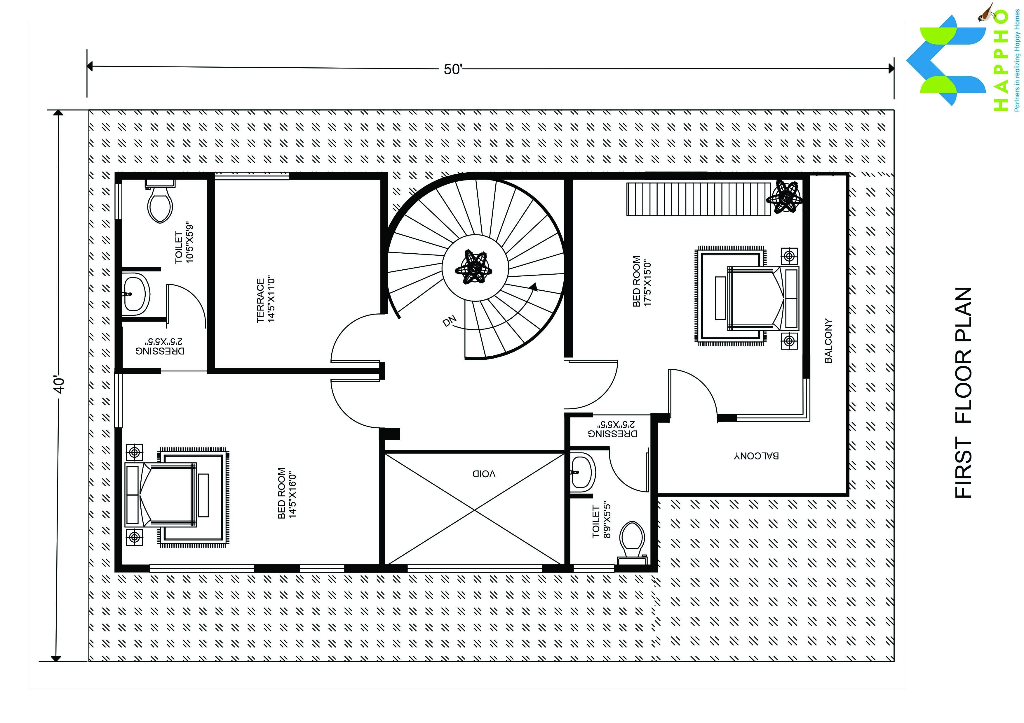 1 bhk floor plan for 22 x 35 feet plot 774 square feet for 2000 sq ft to yards