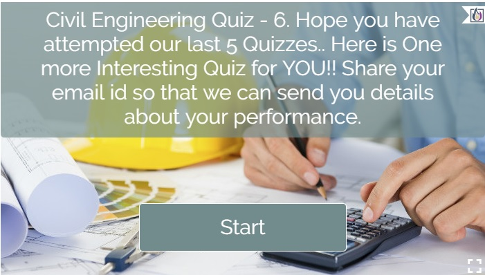 Civil Engineering Quiz-6 Cover Page