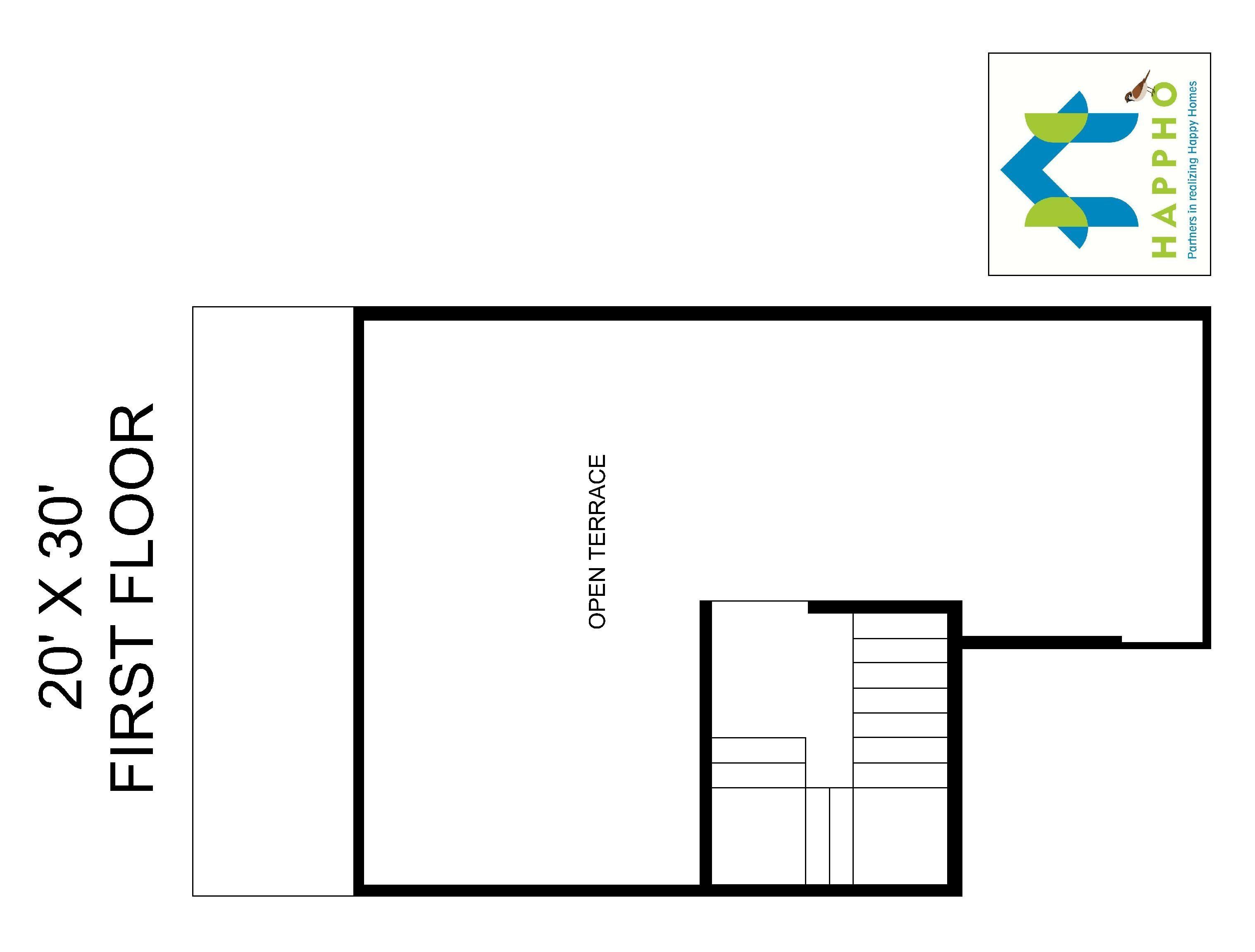 Marvelous 1Bhk Floor Plan, 600 Square Feet, 67 Yards, Bungalow Floor Plan