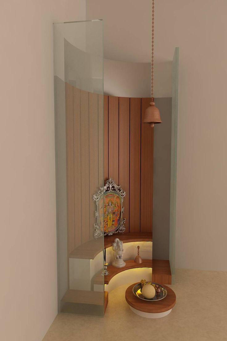 6 locations ideas for puja space for your home happho for Temple inside home designs