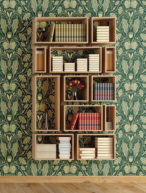Out of the box ideas for your bookshelf happho for Bookshelf layout ideas