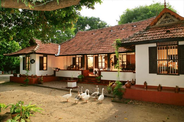 Understanding a traditional kerala styled house design for Village house design images