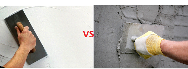 Comparison between Gypsum Plaster and Cement Plaster