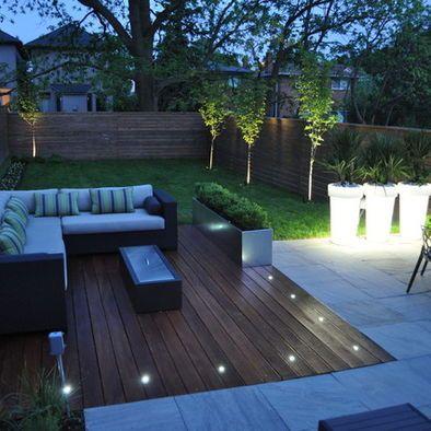 Garden Deck Floor Lighting Design Ideas