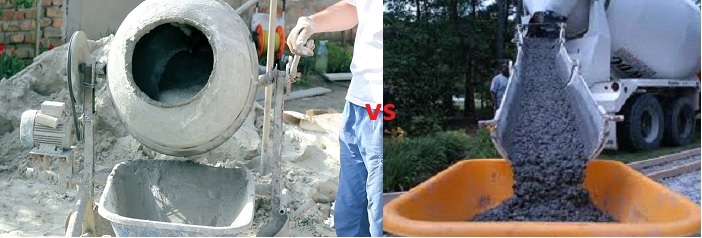 Site Mix vs ready mix concrete