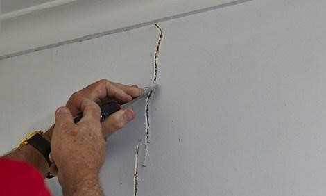 Checking for Cracks and repairing them properly before painting