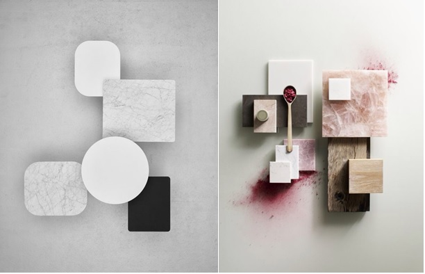 Materials Boards to give a soothing look