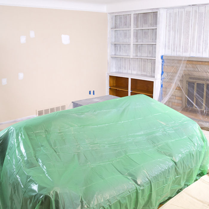 Preparation for Painting - Covering Furniture