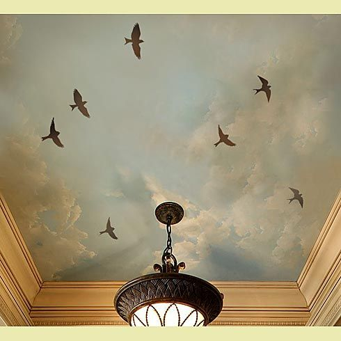 Tray Ceiling with painting and lighting