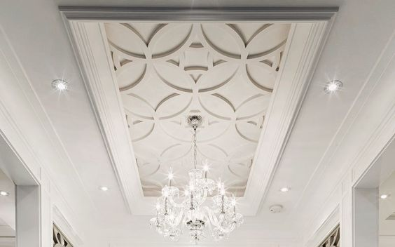 kitchen island ceiling medallions with pendant lights