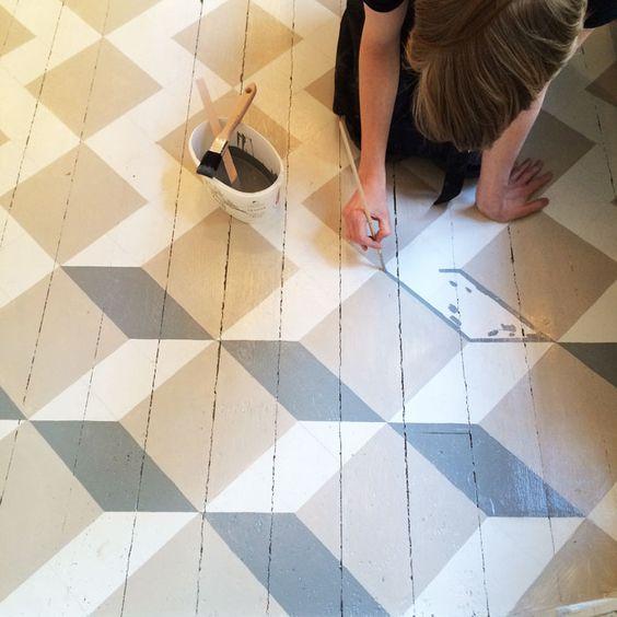 3D pattern floor painting