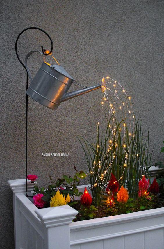 Lighting inside plan flower beds