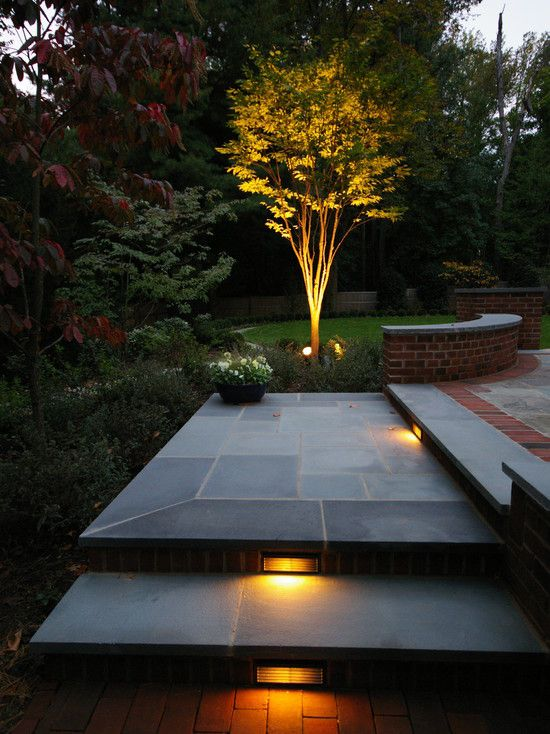 Lighting on Steps in Landscaping area