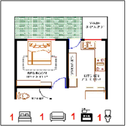 20X30 Ghar-001 Floor Plan-1