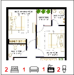 24X57 Ghar-010 Floor Plan Small jpg
