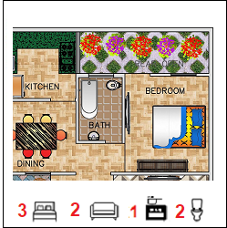 26X30 Ghar-020 Floor Plan Small jpg