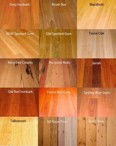 Color Options available in Wooden Flooring