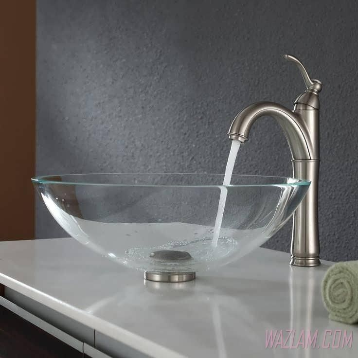 Glass Counter Top Vessel Sink