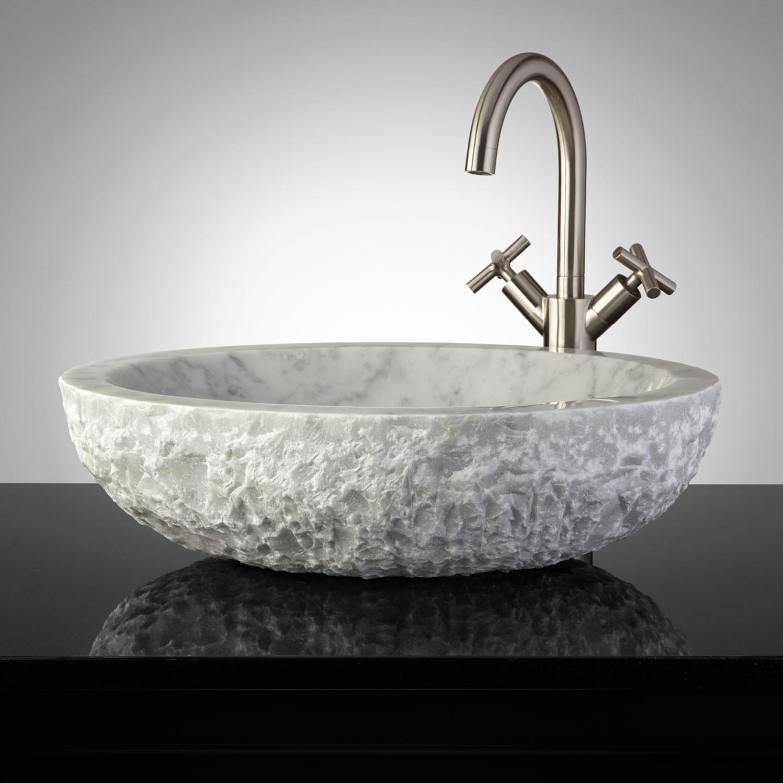marble-oval-sink-carrara-counter-top