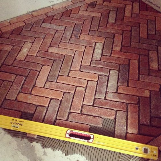 quite pocket friendly brick flooring