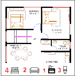 30X50 Ghar-035 Floor Plan Small jpg