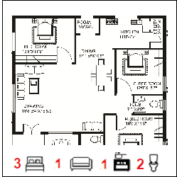 40X45 Ghar-050 Floor Plan Small jpg