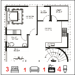 40X50 Ghar-051 Floor Plan Small jpg