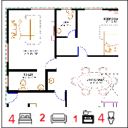40X50 Ghar-053 Floor Plan Small jpg