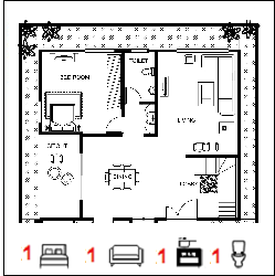 40X50 Ghar-055 Floor Plan Small jpg