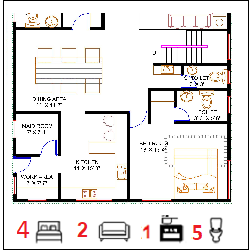 40X60 Ghar-057 Floor Plan Small jpg