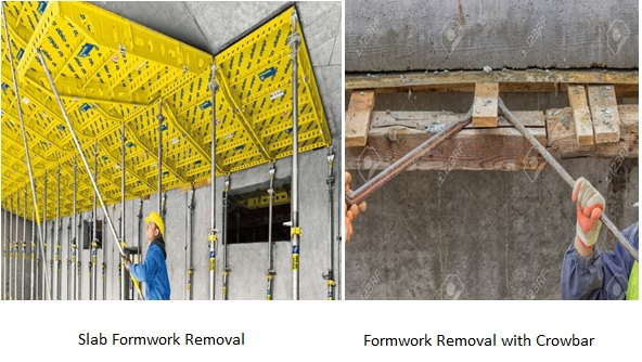 Concrete formwork removal time specifications happho
